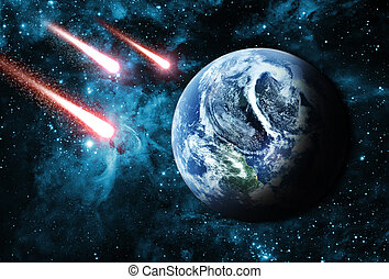 comets in deep space coming to earth