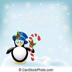 comfit, ペンギン, しまのある, クリスマス