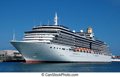 Cruise ship visiting isles canaries in Spain