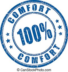 Comfort guarantee rubber stamp