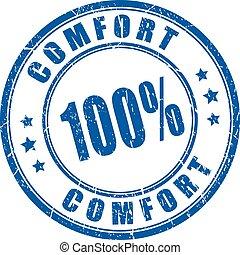 Comfort guarantee rubber stamp