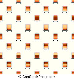 Comfort heater pattern seamless vector