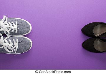 Comfort sneakers vs high heel fashion shoes