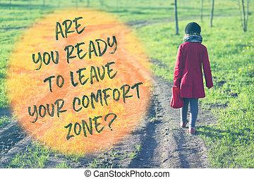 comfort zone going away