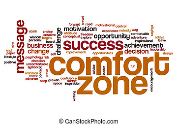 Comfort zone word cloud concept