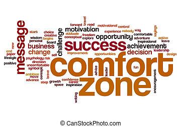 Comfort zone word cloud concept