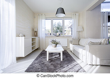 Comfortable and bright interior - Horizontal view of ...