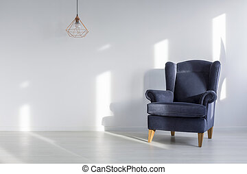 Comfortable armchair in room