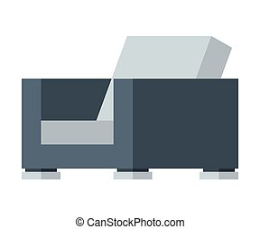 Comfortable Armchair, Modern Outdoor Furniture Design Flat Vector Illustration
