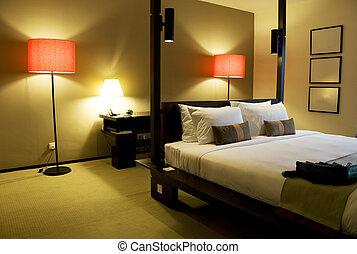 Comfortable Bedroom - Image of a comfortable looking bedroom...
