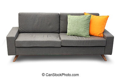 Comfortable couch with pillows