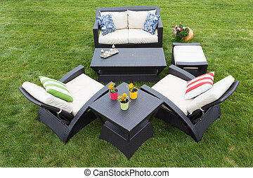 Comfortable deep modern garden furniture