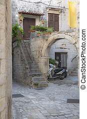 comfortable enclosure of the old town in Trogir