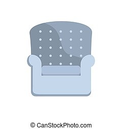 Comfortable home armchair. Flat style color modern vector illustration.