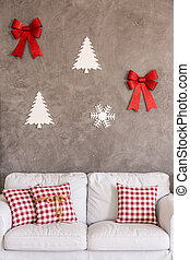 Christmas decoration on the wall