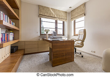 Comfortable home office - Modern comfortable home office in...