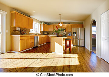 Comfortable large kitchen room