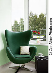 Comfortable lounge chair and coffee table