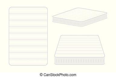 Comfortable mattress for sleeping. vector illustration -...
