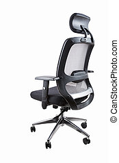 comfortable office swivel chair isolated on white with...