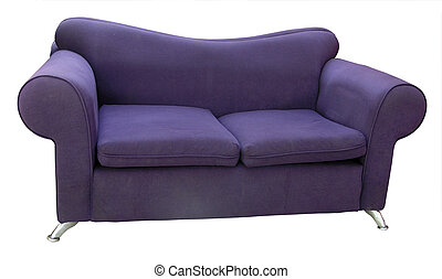 Old Couch isolated with clipping pzth