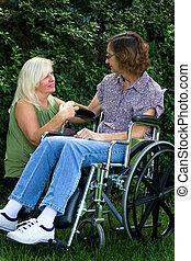 comforter, caregiver