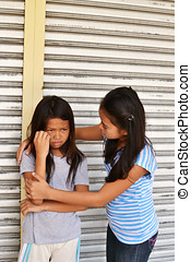 Comforting a poor girl