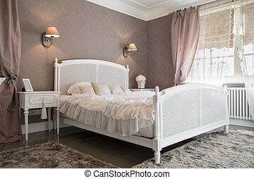 comfy, 寝室, 内部, a, 住处