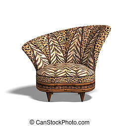 comfy chair with african design - cushy sofa with animal...