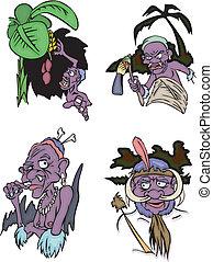 Comic African aborigines