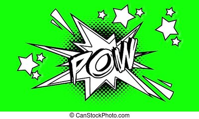 Comic animation of the word pow flies out of the bubble....