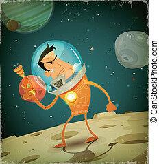 Comic Astronaut Hero