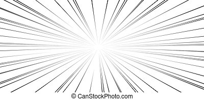 Comic book action lines. Speed lines Manga frame