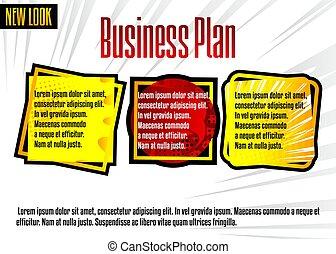 Comic book business presentation template.