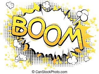 Comic book, cartoon explosion
