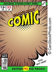Comic book cover. Giant size comic. - Vector image in EPS ...