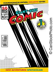 Comic book cover. Vector template, concept cover giant size...