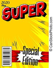 Comic book cover with simple explosion background. - ...