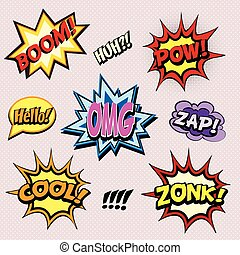 Comic book exclamations set 01