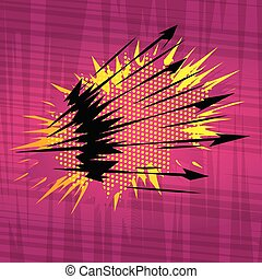 Comic book explosion background.