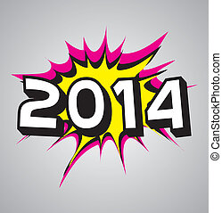 Comic book explosion bubble - 2014