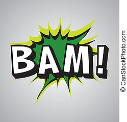 Comic book explosion bubble - bam