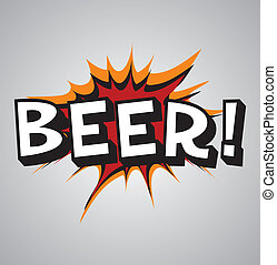 Comic book explosion bubble - beer