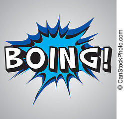 Comic book explosion bubble - boing