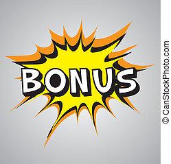 Comic book explosion bubble - bonus