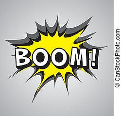 Comic book explosion bubble - boom