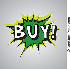 Comic book explosion bubble - buy