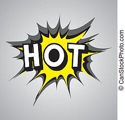 Comic book explosion bubble - hot