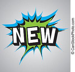 Comic book explosion bubble - new