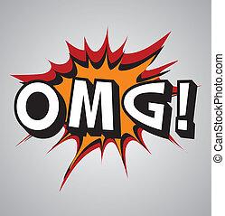 Comic book explosion bubble - omg - Comic book explosion...